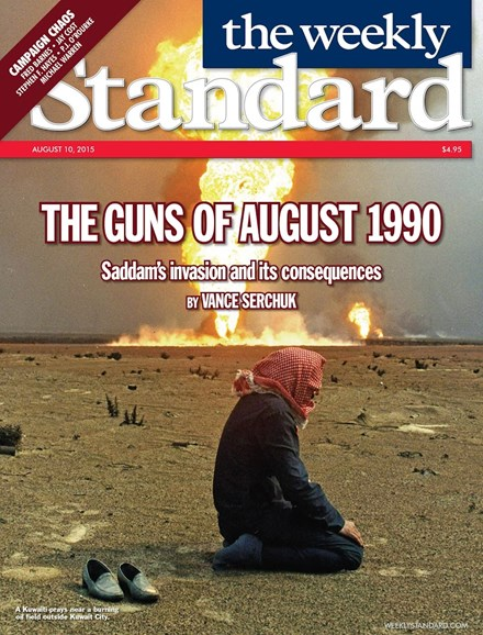 Washington Examiner Cover - 8/10/2015