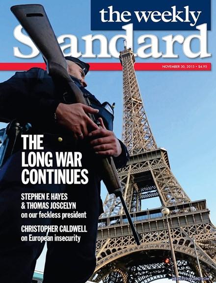 Washington Examiner Cover - 11/30/2015