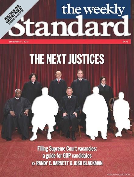 Washington Examiner Cover - 9/14/2015