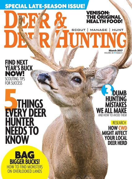 Deer & Deer Hunting Cover - 3/1/2017