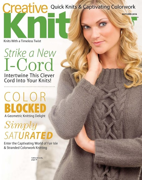 Creative Knitting Cover - 9/1/2016