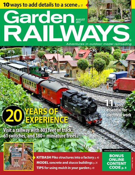 Garden Railways Cover - 8/1/2017
