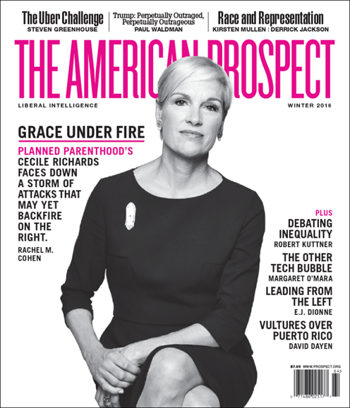 The American Prospect Cover - 12/1/2015