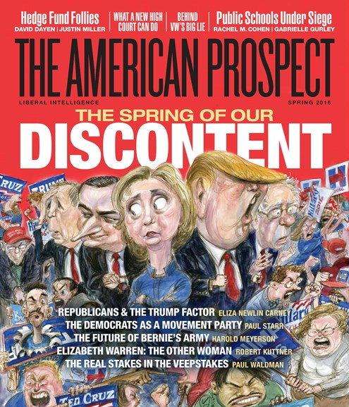 The American Prospect Cover - 3/1/2016