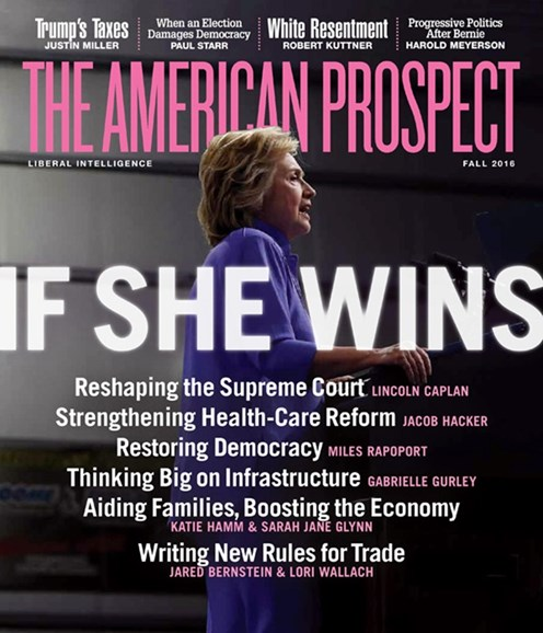 The American Prospect Cover - 9/1/2016