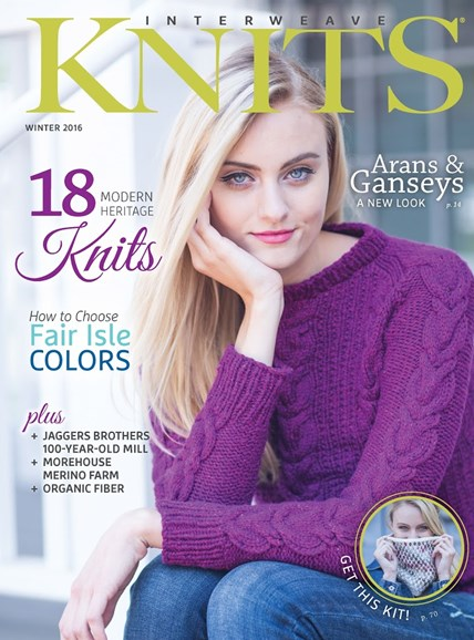 Interweave Knits Cover - 12/1/2015
