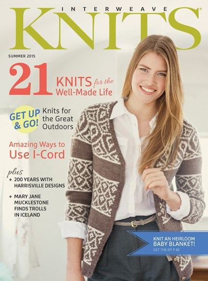 Interweave Knits Cover - 6/1/2015