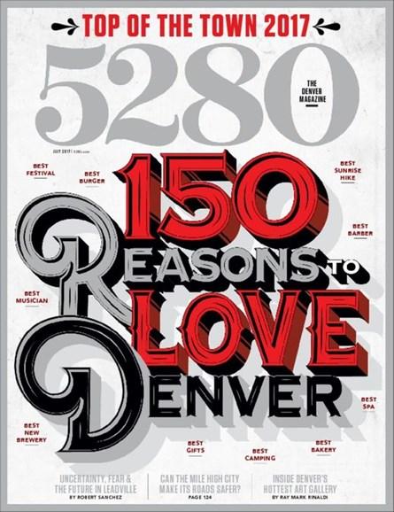 5280 Magazine Cover - 7/1/2017