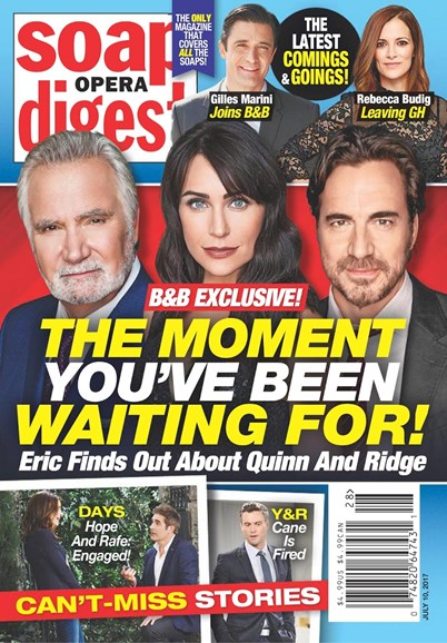 Soap Opera Digest Cover - 7/10/2017