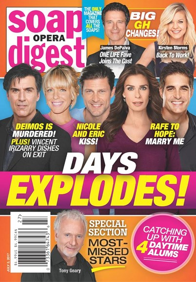 Soap Opera Digest Cover - 7/3/2017
