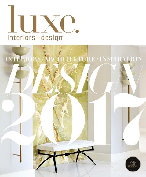 Luxe Interiors & Design Cover - 1/1/2017