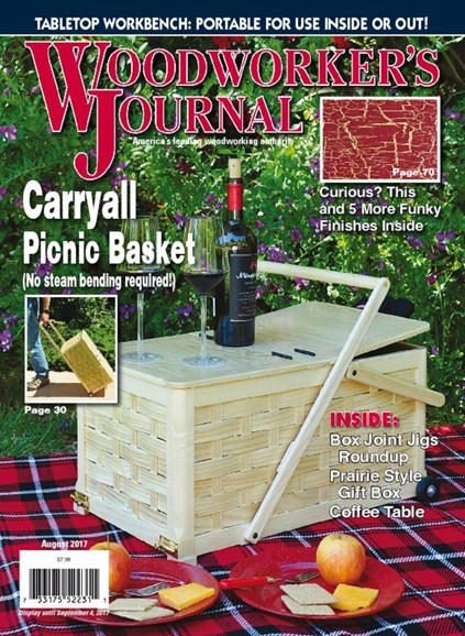Woodworker's Journal Cover - 8/1/2017