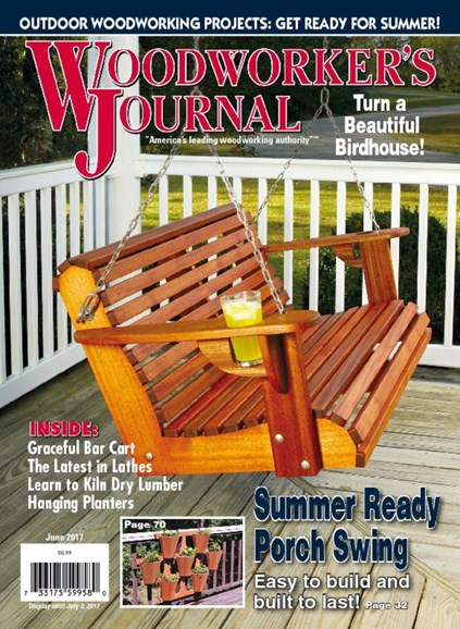 Woodworker's Journal Cover - 6/1/2017