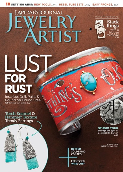 Lapidary Journal Jewelry Artist Cover - 8/1/2017