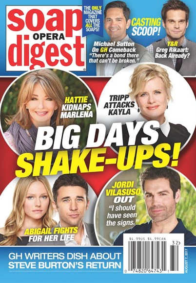 Soap Opera Digest Cover - 8/7/2017