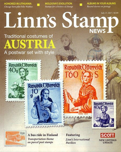 Linn's Stamp News Monthly Cover - 7/17/2017