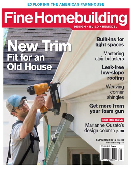 Fine Homebuilding Cover - 9/1/2017