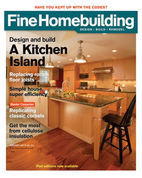 Fine Homebuilding Cover - 1/1/2013