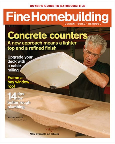 Fine Homebuilding Cover - 5/1/2013