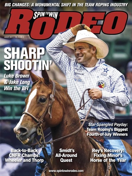 The Team Roping Journal Cover - 8/1/2017
