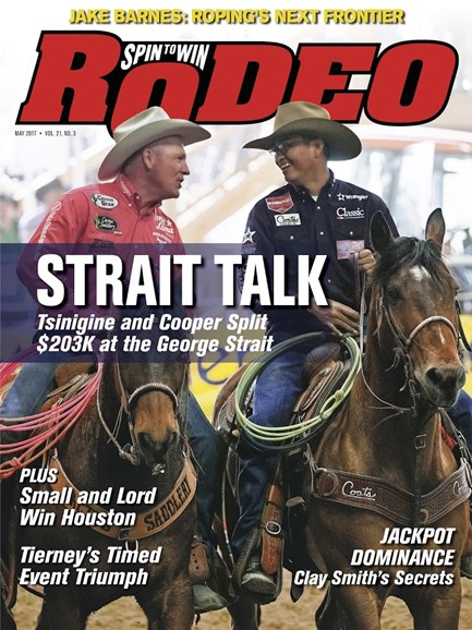 The Team Roping Journal Cover - 5/1/2017
