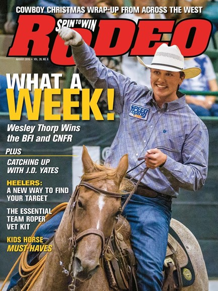 The Team Roping Journal Cover - 8/1/2016