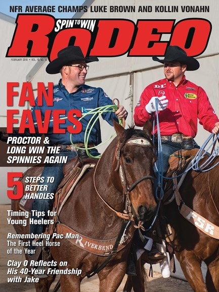 The Team Roping Journal Cover - 2/1/2016