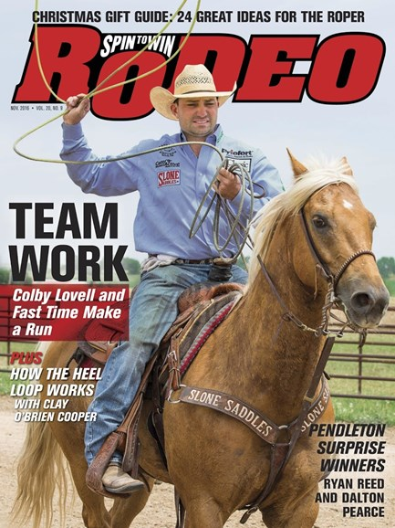 The Team Roping Journal Cover - 11/1/2016