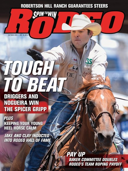 The Team Roping Journal Cover - 10/1/2016