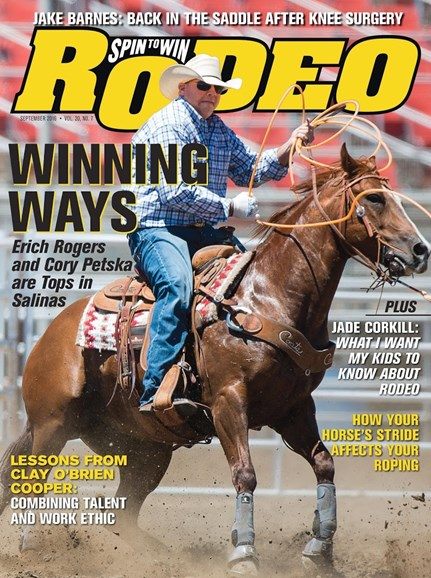 The Team Roping Journal Cover - 9/1/2016