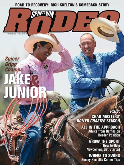 The Team Roping Journal Cover - 10/1/2015