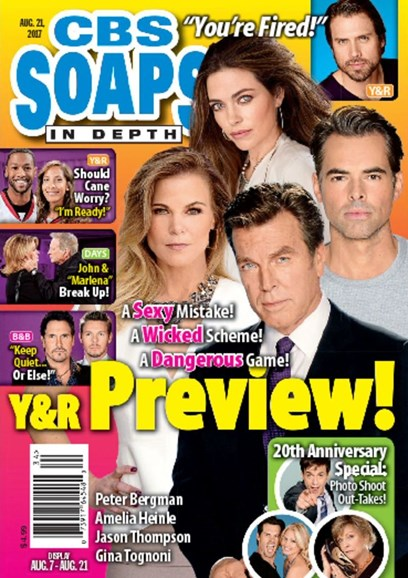 CBS Soaps In Depth Cover - 8/21/2017