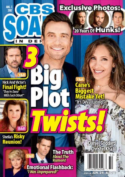 CBS Soaps In Depth Cover - 8/7/2017