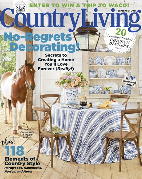 Country Living Cover - 9/1/2017