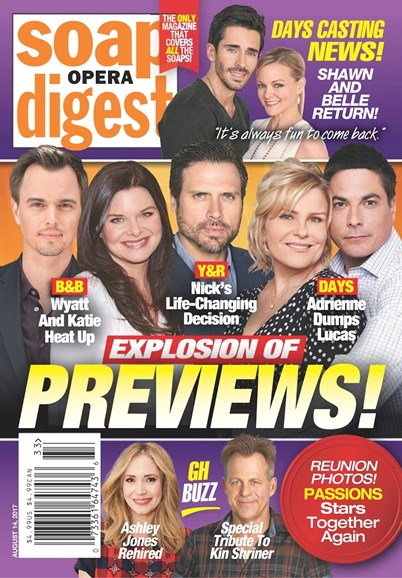 Soap Opera Digest Cover - 8/14/2017