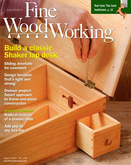 Fine Woodworking Cover - 7/1/2015