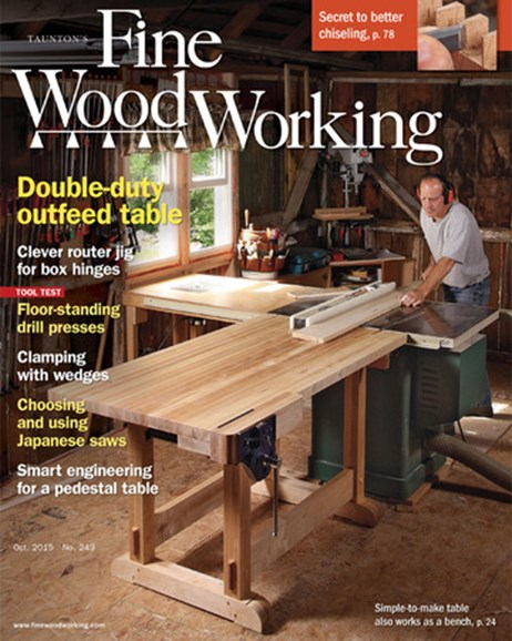 Fine Woodworking Cover - 9/1/2015
