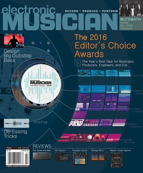 Electronic Musician Cover - 2/1/2016
