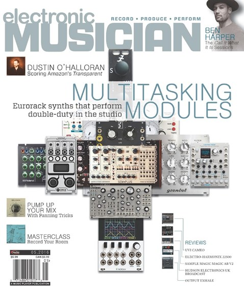 Electronic Musician Cover - 5/1/2016