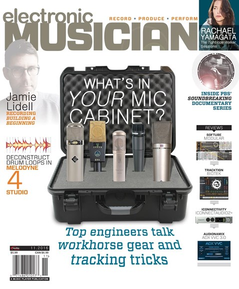 Electronic Musician Cover - 11/1/2016