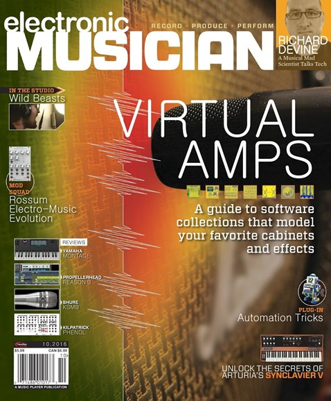 Electronic Musician Cover - 10/1/2016
