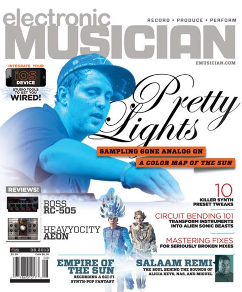 Electronic Musician Cover - 8/1/2013