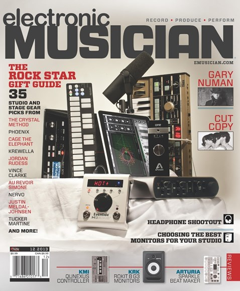 Electronic Musician Cover - 12/1/2013