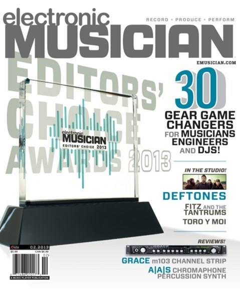 Electronic Musician Cover - 2/1/2013
