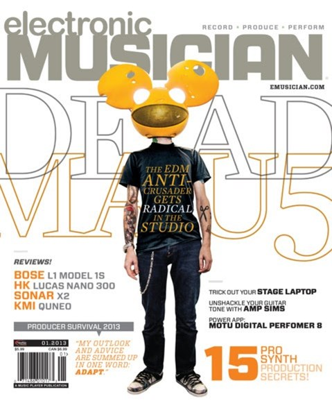 Electronic Musician Cover - 1/1/2013