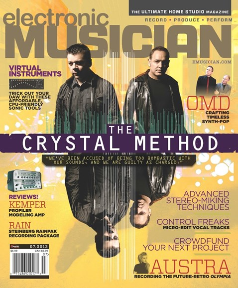 Electronic Musician Cover - 7/1/2013