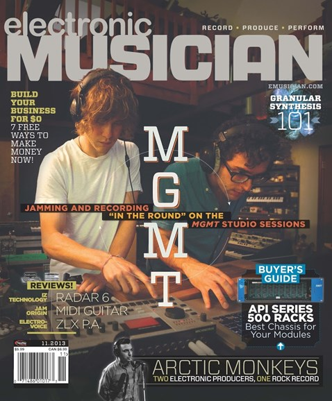 Electronic Musician Cover - 11/1/2013