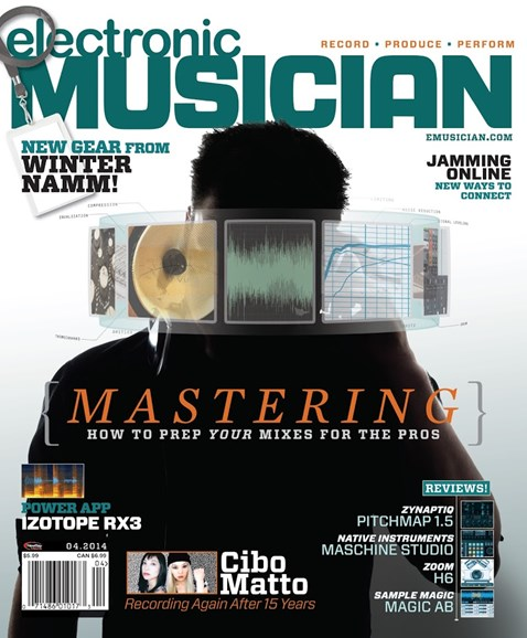 Electronic Musician Cover - 4/1/2014