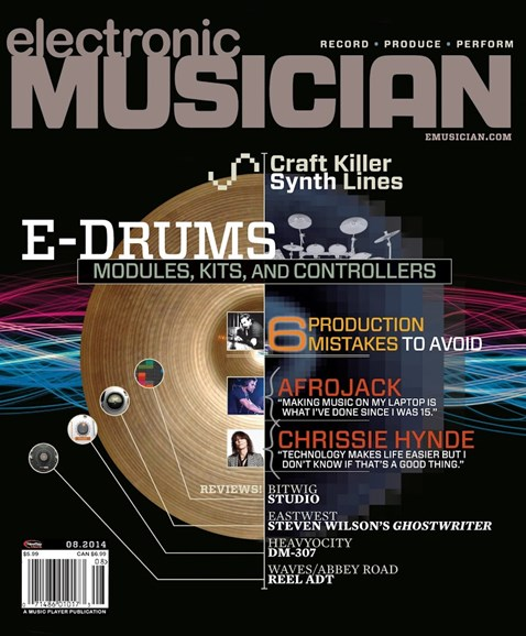 Electronic Musician Cover - 8/1/2014