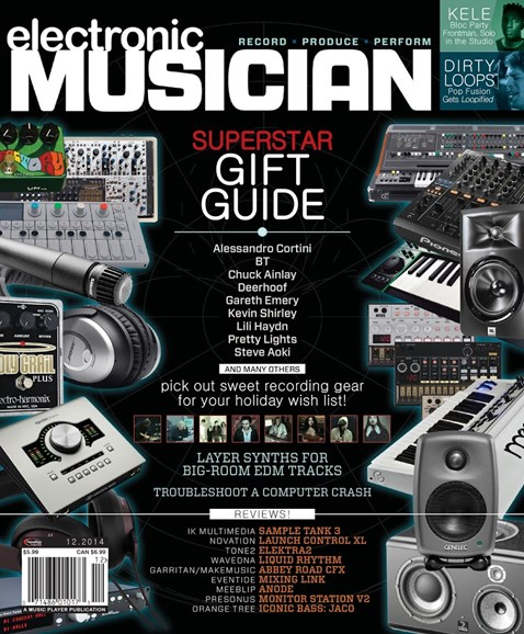Electronic Musician Cover - 12/1/2014